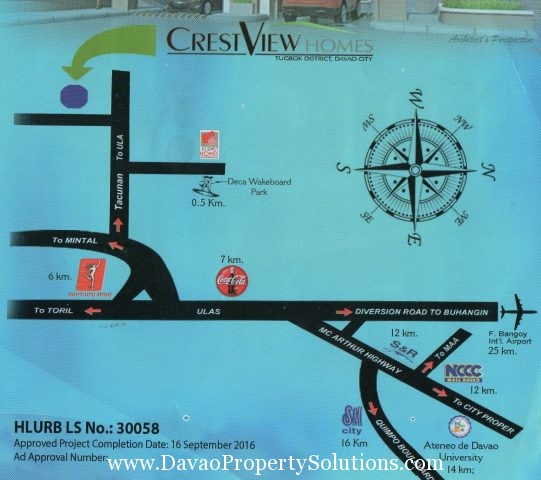 CrestView Homes | Brgy. Ula, Tugbok District, Davao City