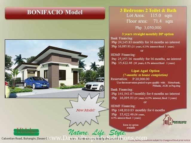 HIDALGO HOMES | BONIFACIO HOUSE MODEL