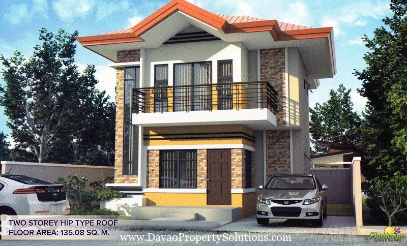 TWO STOREY HIP TYPE ROOF MODEL HOUSE | PLANTATION RESIDENCES, MAKILALA NORTH COTABATO