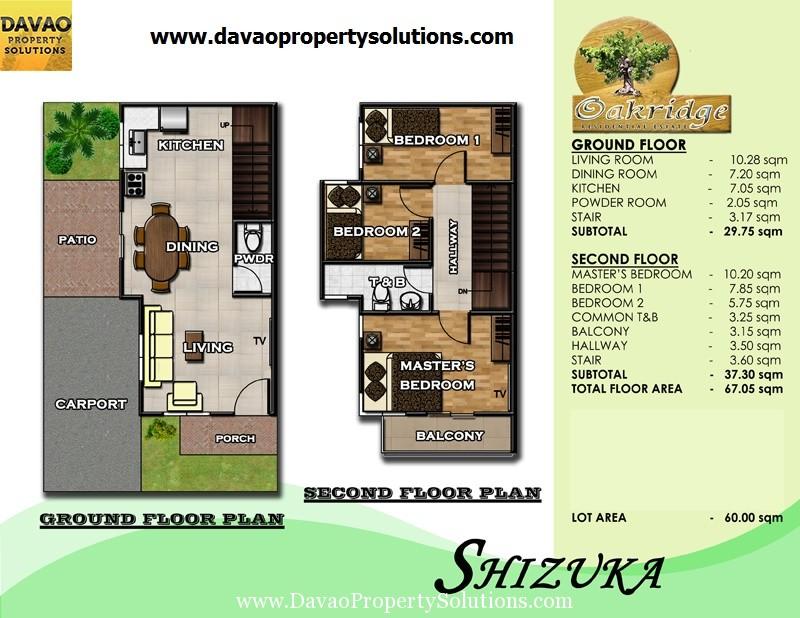 SHIZUKA HOUSE MODEL | FLOOR PLAN