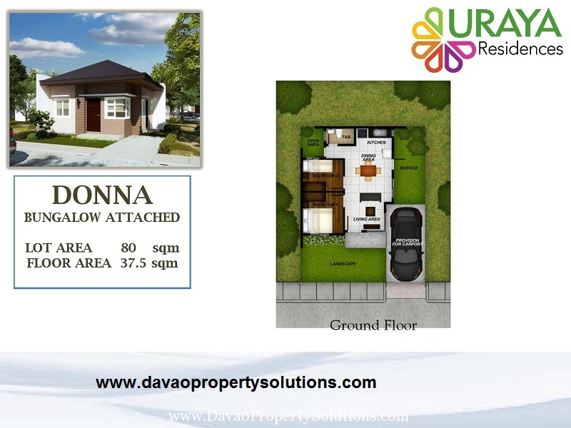 DONNA HOUSE MODEL | FLOOR PLAN